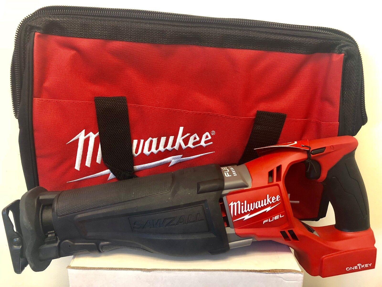 MILWAUKEE 2721-20 M18 FUEL Reciprocating Sawzall One Key + FREE MED TOOL BAG
