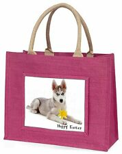 Husky+Daffodil 'Happy Easter' Large Pink Shopping Bag Christmas Pr, AD-H54DA1BLP