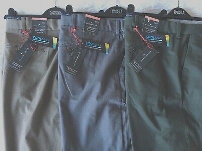 RRP £39.50 MENS M/&S BLUE HARBOUR 44 46 48 OR 50 WAIST STRETCH CHINO TROUSERS