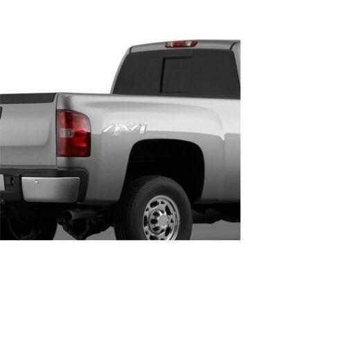 Chrome CHEVROLET GMC 4X4 Decals SILVERADO SIERRA 07-13 Cadillac 2 20986187 OEM