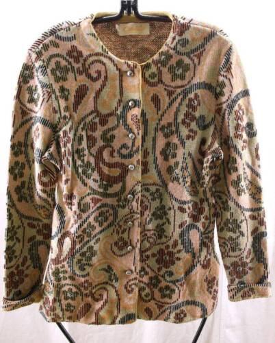 Catalina California Jacquard Paisley Wool Cardigan
