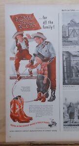 Werbung in Familien Cowboystiefel Caliper für alle 1948 Acme Für getestet Magazin zqUZxxw5ng