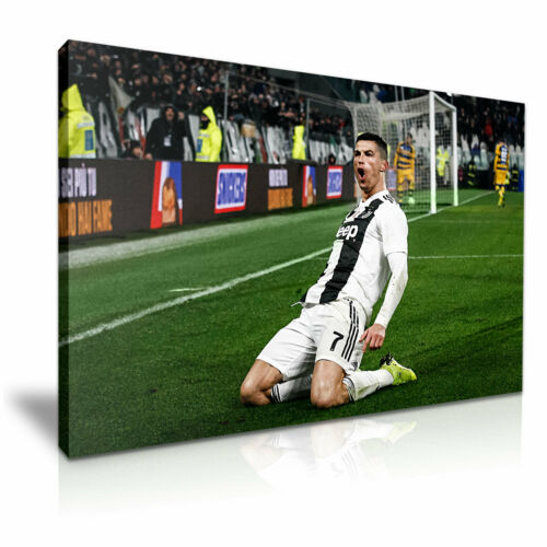 Cristiano Ronaldo Juventus Football Club Canvas Wall Art Picture Print 76x50cm