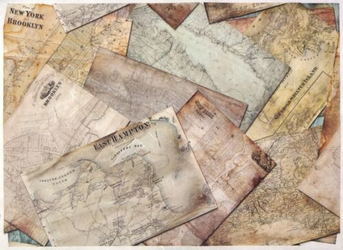 Rice Paper for Decoupage Decopatch Scrapbook Craft Sheet A//3 Vintage City Maps