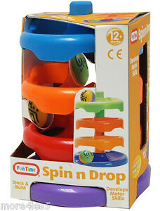 Fun-Time-Spin-n-Drop-Ball-Runner-Toy-Baby-Toddler-Activity-Age-12-Months-New