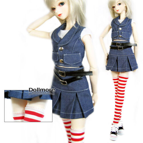 Striped Red Band Stocking DOLLMORE NEW 1//3 BJD elasitcity SD size