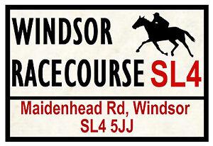 HORSE RACING ROAD SIGNS (WINDSOR) - FUN SOUVENIR NOVELTY FRIDGE MAGNET GIFT
