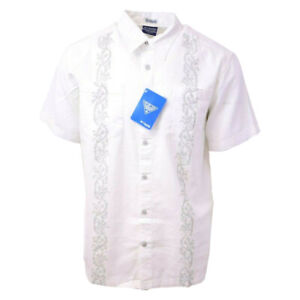 Columbia-Men-039-s-Harborside-PFG-Linen-Camp-Graphic-S-S-Woven-Shirt-Retail-50