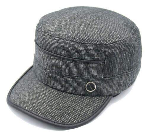 Mütze Herrenmütze Ohrwärmer Seefahrer Ohrenmütze schwarz grau Hut Ohrenklappen