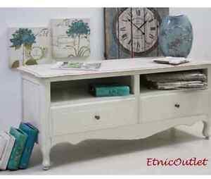 porta tv legno bianco shabby chic mobili provenzali legno massello