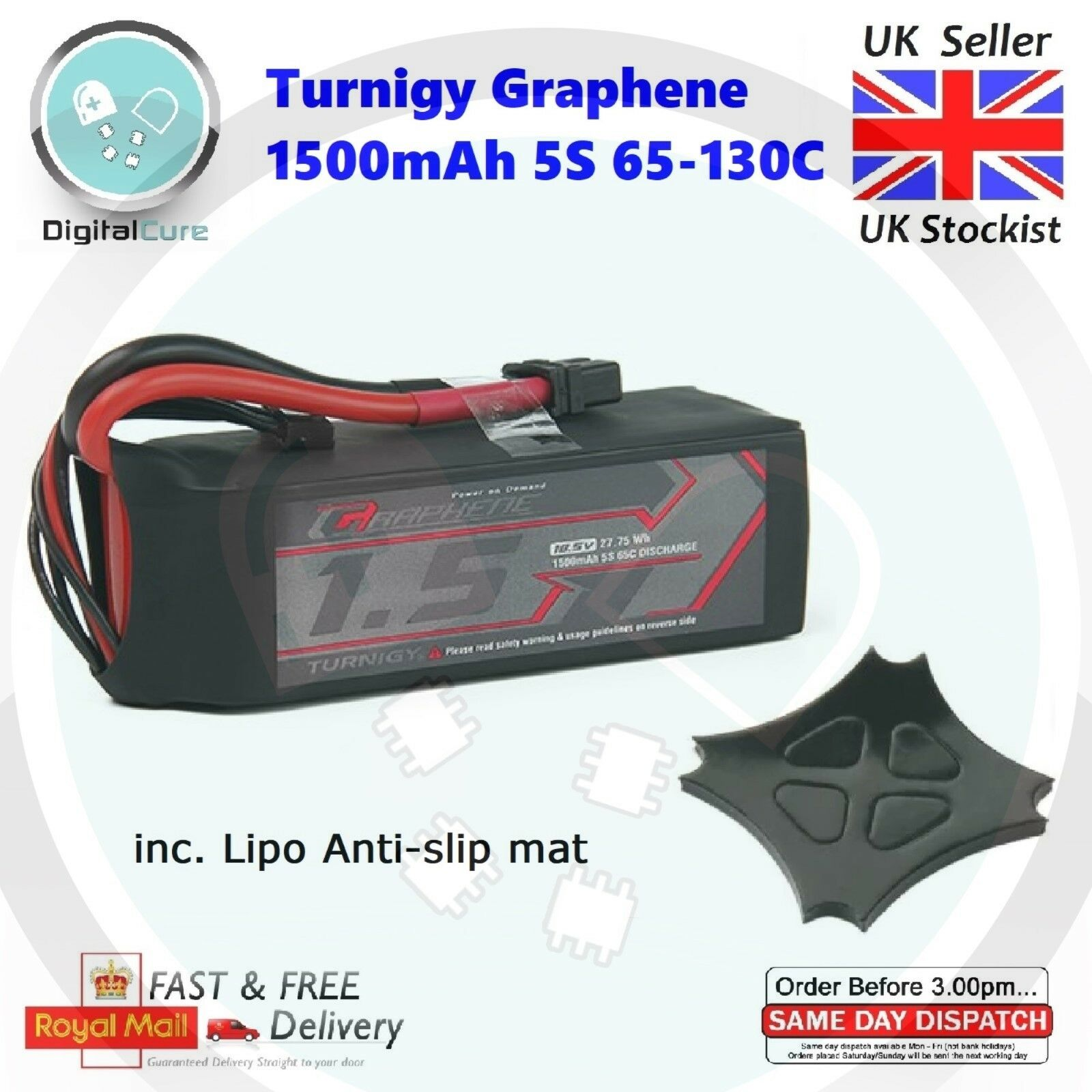 Turnigy Graphene 1500mAh 18.5V 5S 65C-130C LiPo Battery XT60- 1800 1300 4S 6S