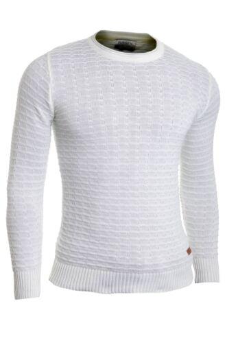 Men/'s Jumper Striped Knit Smart Long Sleeve Sweater Crew Neck Top Slim Fitness