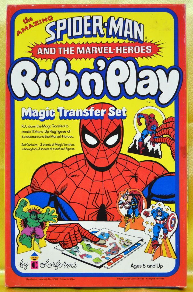 Vintage - spider - man reibt und spielen Farbeforms playset mib 1978 marvelmania