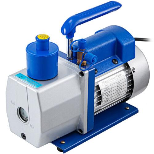 4.5CFM 2 Stage Refrigerant Vacuum Pump Refrigeration Air Condition 128L//MIN