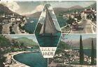 170098 BERGAMO LOVERE - SALUTI da... VEDUTINE Cartolina FOTOGRAFICA viagg. 1957