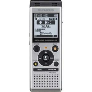 Olympus-WS-852-Digital-Voice-Recorder-Silver-Large-LCD-Screen-and-Speaker