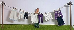 Washing-line-clothes-amp-figure-Victorian-O-scale-Unpainted-Langley-OF7a