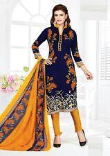 Indian Designer Printed Crepe Salwar Kameez Unstitched Suit D.No AR5012