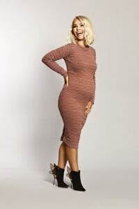 8d49f9cc86e Katie Piper Maternity Ribbed Long Sleeve Midi Dress Want That Trend ...