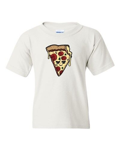 Too Cute To Eat Pizza Meal Food Cheese Dough Novelty DT Youth Kids T-Shirt Tee