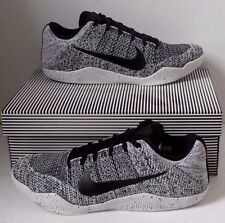 NEW NIKE KOBE 11 XI ELITE LOW OREO BLACK WHITE SNEAKERS 822675-100 Men Size 14