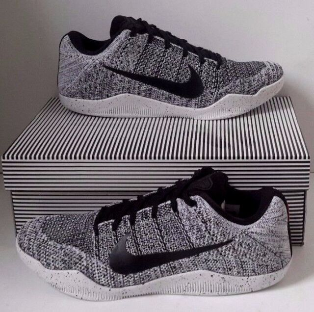 reputable site 85042 7315f NEW NIKE KOBE 11 XI ELITE LOW OREO BLACK WHITE SNEAKERS 822675-100 Men Size