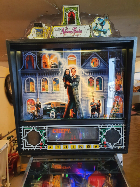 The Addams Family Pinball Machine, flippermaskine, God,…