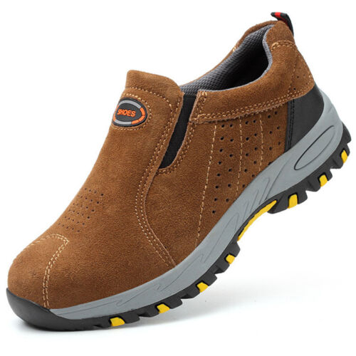 Men/'s Safety Steel Toe Caps Sport Shoes Slip Protective Breathable Work Boots UK