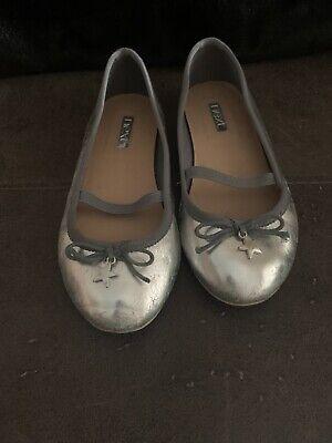 Next Silver Star Ballet Pumps Size