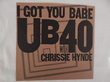"UB40 with Chrissie Hynde ""I Got You Babe"" PICTURE SLEEVE! RARE BROWN! BRAND NEW!"