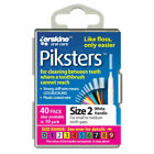 Piksters Interdental Brushes, Size 2, White - 40 Pack