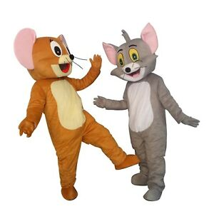 MENS TOM AND JERRY CAT TV SHOW CARTOON FANCY DRESS ADULTS LADIES COSTUME OUTFIT