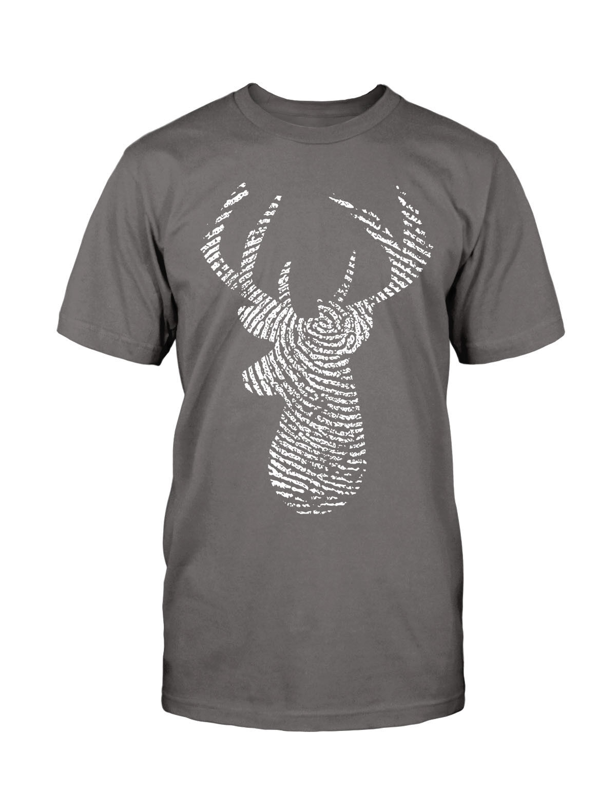 Deer Doigt T-shirt CHASSE print empreinte CHASSEUR CHASSE T-shirt HUNTER cerf bois Fun Nature Wild fe7d9c