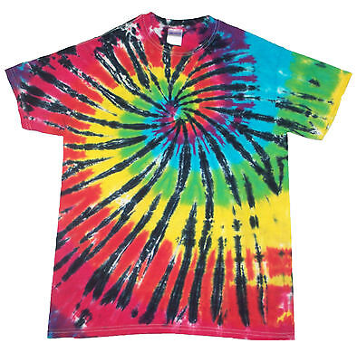 corner rainbow hand crafted in the UK All Sizes T Shirt Tie Dye