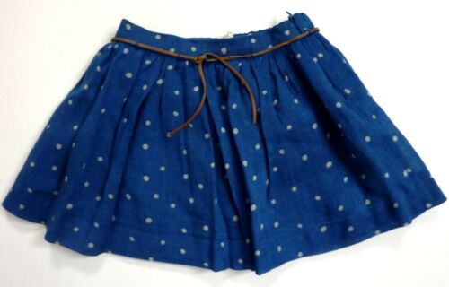 Zara Baby Girls BLUE Dotty Print Wool Blend Short Skater Skirt 3-4y 9-10y  £19.9
