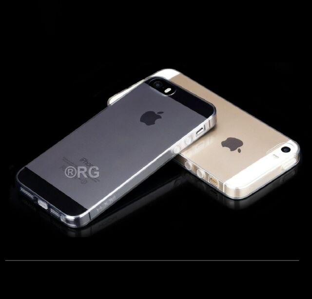 Luxury Ultra Slim Shockproof Silicone Clear Case Cover for iPhone SE 5 5s