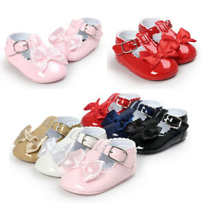 Baby-Newborn-Girl-Princess-Grib-Shoes-Leather-Soft-Sole-Sneaker-Christening-Pram