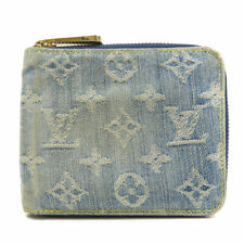 Pre-owned Louis Vuitton M95342 Mini Zippy Monogram Denim