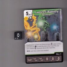 DICE MASTERS DC WAR OF LIGHT UNCOMMON #86 LANTERN BATTERY RECHARGE CARD & DICE