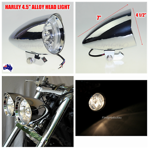 CHROME BILLET HEADLIGHT PARTS FOR HARLEY SOFTAIL CHOPPER BOBBER