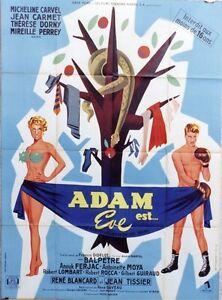 """ADAM EST EVE"" Affiche originale (René GAVEAU - Jean CARMET- Micheline CARVEL) 3ZUThiIx-07165447-938622307"