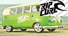 2x Ripcurl surf surfing board vinyl car / van graphic decal stickers camper vw