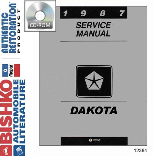 1987 Dodge Dakota Truck Shop Service Repair Manual CD Engine Drivetrain Wiring