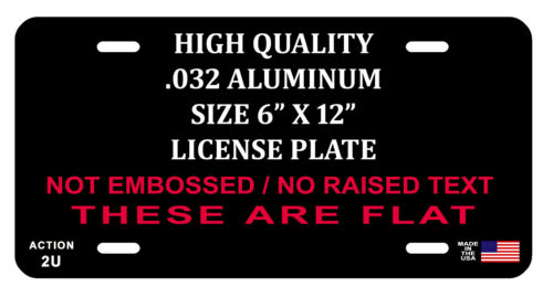 LICENSE PLATE 4X4 OFFROAD TRUCK DURABLE ALUMINUM QUALITY FULL COLOR GLOSS LP#101