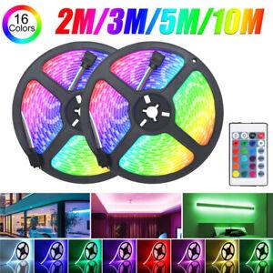 2M-3M-5M-10M-RGB-2835-LED-Luz-de-Tira-Control-Remoto-Al-Aire-Libre-Interior-KTV-Hotel