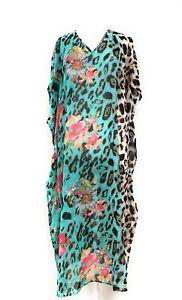 Ladies-Bikini-Cover-Up-Beachwear-Swimwear-V-Neck-Caftan-Bathing-Maxi-Dress-NWT