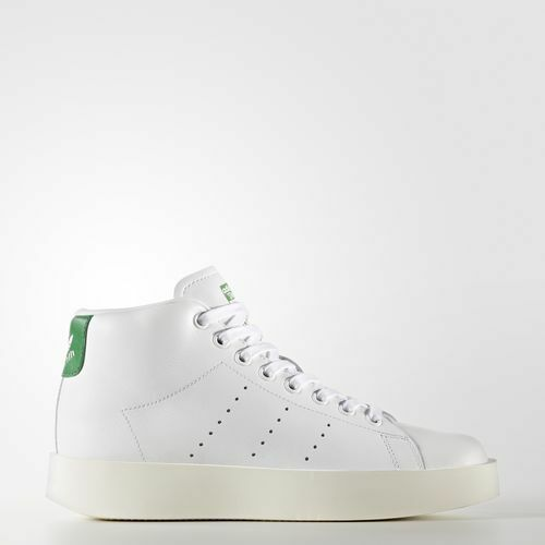 Women BY9663 Adidas Stan Smith Mid Bold Tennis shoes white green sneakers