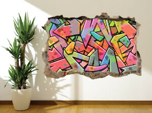 Details About Cool Abstract Graffiti Art Kids Bedroom Wall Sticker Wall Mural 33045063