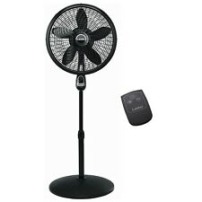 "Lasko 1843 18"" Remote Control Cyclone Pedestal Fan - Black"