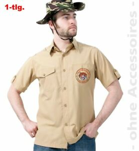 Fri Herren Kostum Dschungel Safari Hemd Karneval Fasching Ebay